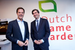 Mark Rutte bezoekt de Dutch Game Garden in Utrecht.